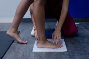 Prova impronta piede