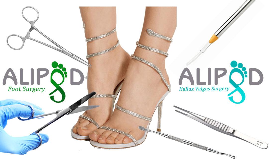 Chirurgia estetica dei piedi.
